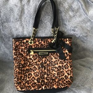 new Betsey Johnson  quilted  cheetah tote